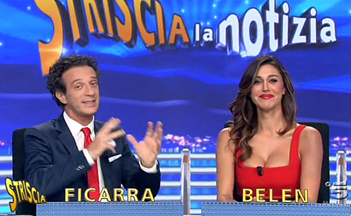 """Belen Rodriguez alla conduzione di Striscia la Notizia con Michelle Hunziker, Fabrizio Corona: """"Mi tradiva!"""""""