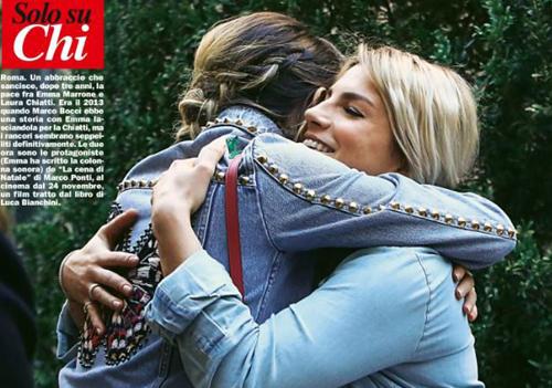 Gossip News: Emma Marrone e Laura Chiatti dopo Marco Bocci sanciscono la pace con un abbraccio