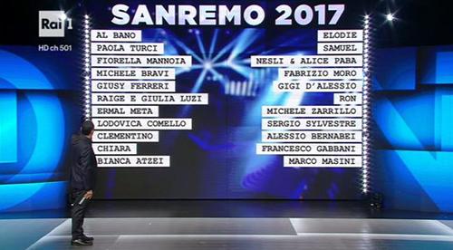 Sanremo 2017, anticipazioni: tutti i nomi ufficiali dei 22 BIG in gara e le dichiarazioni di Carlo Conti