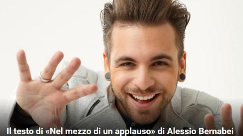 """SANREMO 2017: Alessio Bernabei con """"Nel mezzo di un applauso"""", il testo della canzone"""