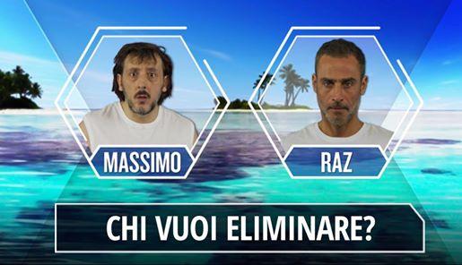Isola dei Famosi 2017: Giacomo Urtis eliminato, Raz Degan ancora in nomination contro Massimo Ceccherini