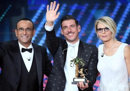 Ascolti Tv, 11 febbraio 2017: finale di Sanremo 2017, vince Francesco Gabbani, tutti i dati Auditel della serata