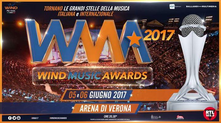 Wind Music Awards 2017, anticipazioni 6 giugno: ospiti italiani ed internazionali e il Premio Live