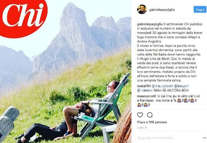 Ambra Angiolini e Massimiliano Allegri, Gossip News: fuga d'amore in montagna, le nuove foto della coppia