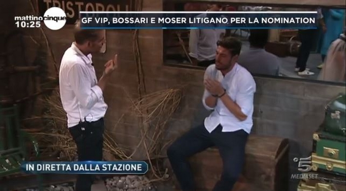 """Grande Fratello Vip 2017, Daniele Bossari """"condanna"""" la lista di Ignazio Moser: il video della lite"""