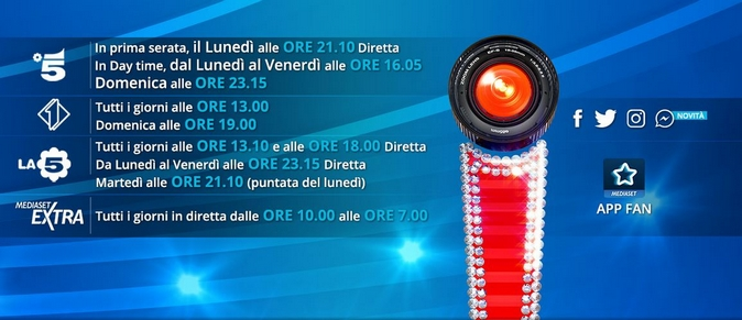 Grande Fratello Vip, daytime e streaming