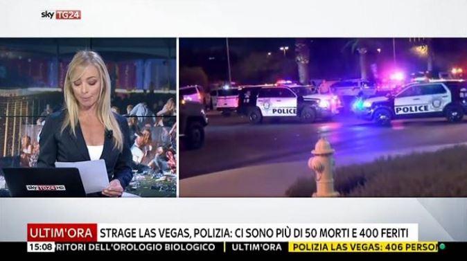 Strage a Las Vegas, gli speciali in diretta tv: bilancio vittime e messaggio di Papa Francesco