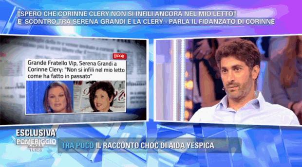 """Pomeriggio 5, Angelo Costabile shock su Serena Grandi e Corinne Clery: """"Si odiano!"""""""