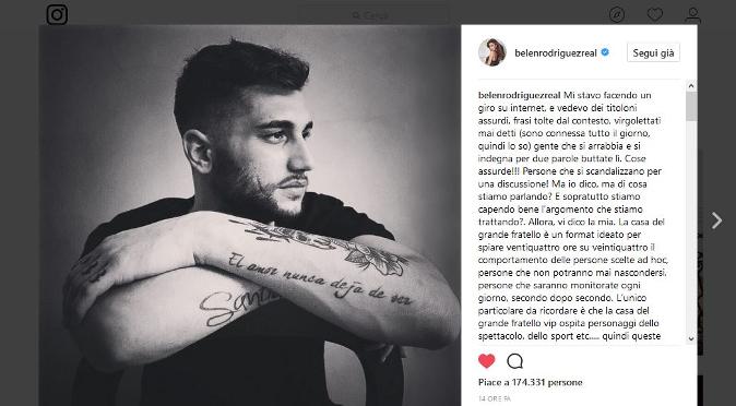 Grande Fratello Vip, Belen Rodriguez difende ancora Jeremias: il lungo sfogo dopo il litigio con Simona