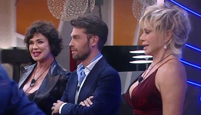 Corinne Clery, Raffaello Tonon e Carmen Russo al GF Vip 2017
