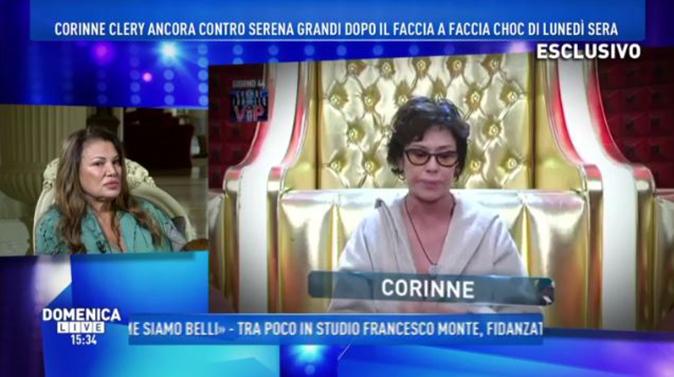 """GF Vip, Serena Grandi a Domenica Live: """"Corinne Clery mi fa schifo!"""", e poi spara a zero su Costabile [VIDEO]"""