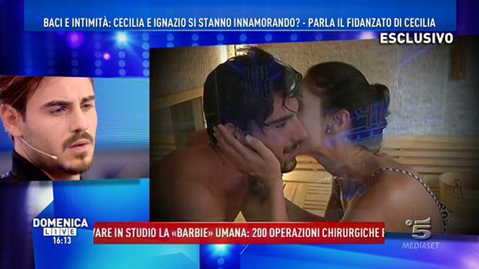 """Francesco Monte a Domenica Live: """"Ignazio è un viscido!"""", al GF Vip l'incontro con Cecilia Rodriguez"""