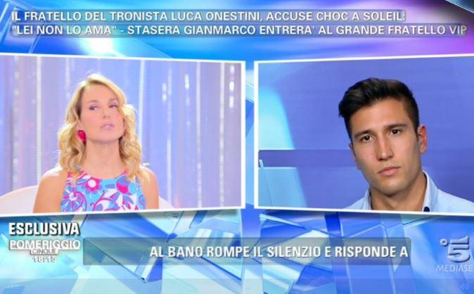 Grande Fratello Vip 2017, anticipazioni: il fratello di Luca Onestini entra nella Casa, tutta la verità su Soleil