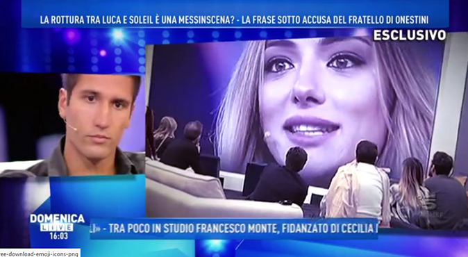 Grande Fratello Vip, Gianmarco Onestini a Domenica Live difende Luca e accusa Veronica Angeloni [VIDEO]