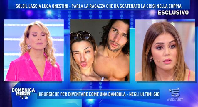 """GF Vip 2017, Giulia Latini a Domenica Live: """"Soleil non è innamorata!"""", il messaggio per Luca [VIDEO]"""