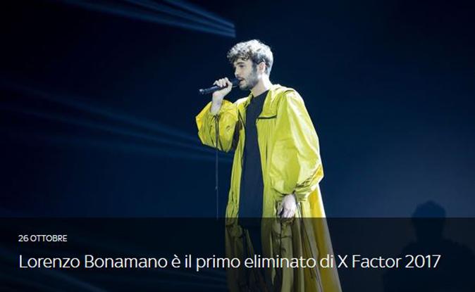 X Factor 2017, primo Live Show: Lorenzo Bonamano eliminato, la difficile decisione di Fedez