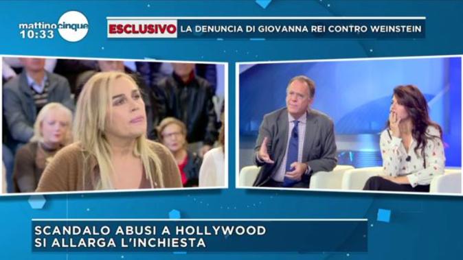 Caso Weinstein, Valeria Marini e Lory Del Santo shock a Mattino Cinque: le dichiarazioni a favore [VIDEO]
