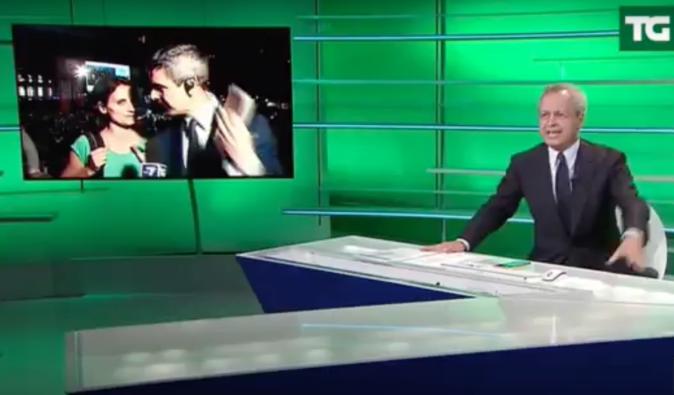 """Enrico Mentana, siparietto in diretta tv con l'inviato diventa virale: """"Celata sta rimorchiando, una scena terribile"""" – VIDEO"""