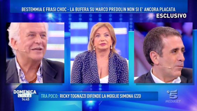 """Domenica Live, Simona Izzo VS Predolin: """"Con la tua lingua biforcuta andrai a pulire i sanitari"""" [VIDEO]"""