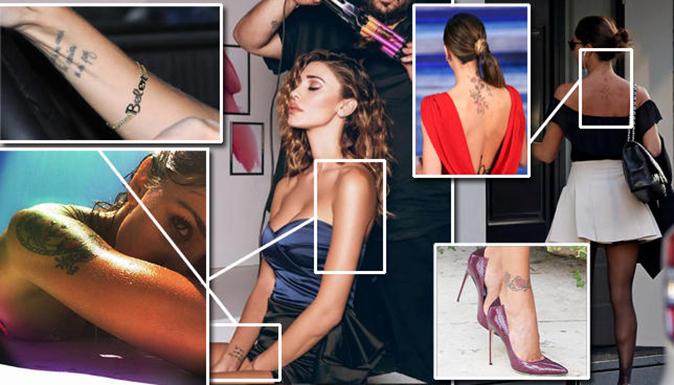 Belen Rodriguez cancella tutti i tatuaggi tranne la farfallina: ecco perché
