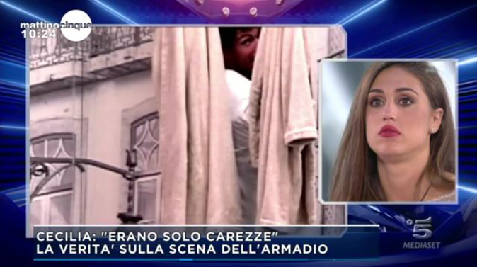 Gf Vip 2, Cecilia e Ignazio: la Rodriguez svela cosa è successo nell'armadio con Moser (Video)