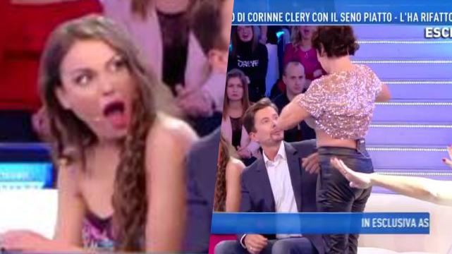 Corinne Clery, Domenica Live: mostra il davanzale in diretta, Nadia Rinaldi e il corpo 'nuovo' (Video)
