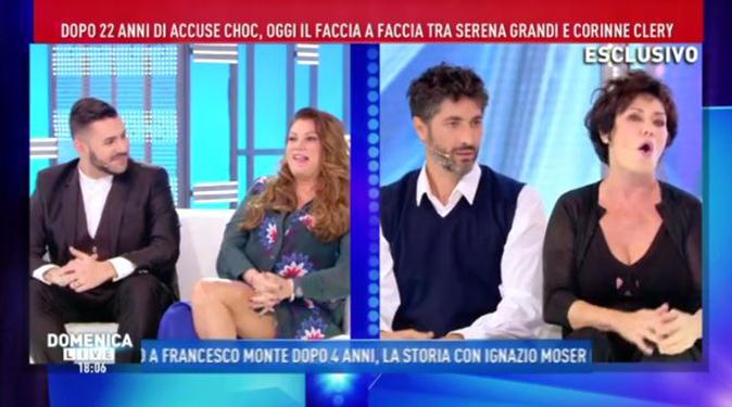 Corinne Clery fa pace con Serena Grandi ma litiga con Karina Cascella: 'Pazza isterica, gallina!' (Video)