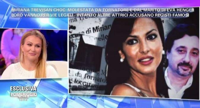 """Pomeriggio 5, Eva Henger contro Miriana Trevisan: """"E' bugiarda!"""" e l'ex ragazza di Non è la Rai minaccia di querelarla"""