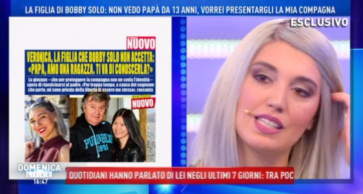 La figlia di Bobby Solo a Domenica Live: coming out dalla d'Urso 'Mio padre non vuole vedermi!' (Video)