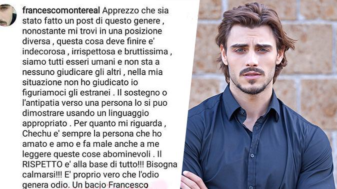 """GF Vip 2, Francesco Monte difende Cecilia Rodriguez: """"La amo ancora, fa male leggere queste cose!"""""""