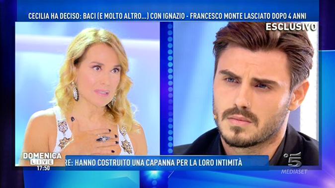 """Francesco Monte a Domenica Live dopo il GF Vip: """"La amo ancora ma non la perdonerei!"""""""