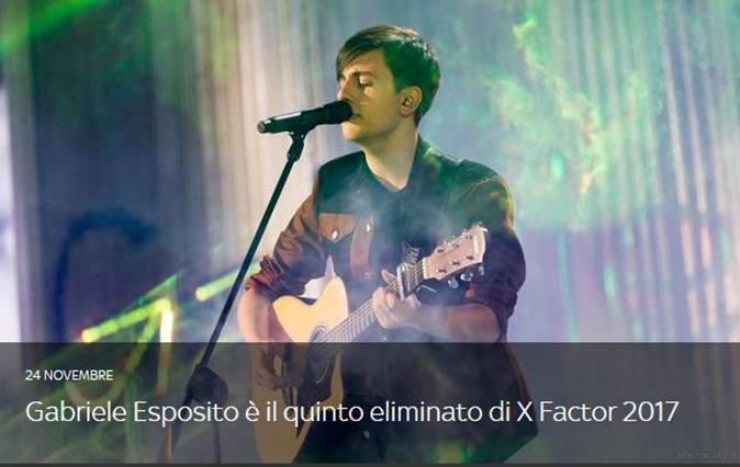 Gabriele Esposito eliminato X Factor 2017