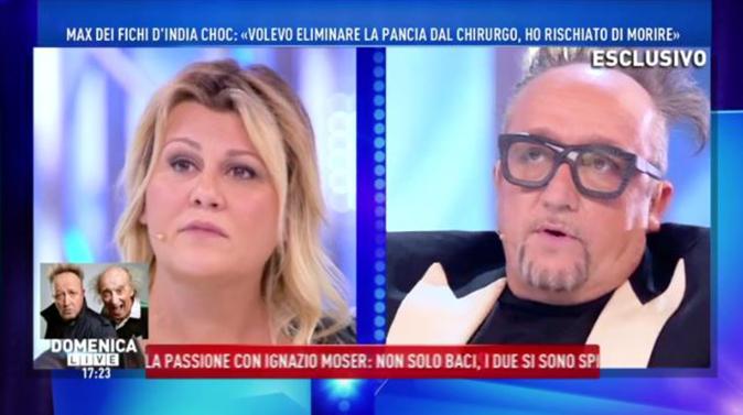 """Max Cavallari a Domenica Live: """"Stavo morendo, mi ha operato anche al p*** ora devo levare tutto!"""" [VIDEO]"""