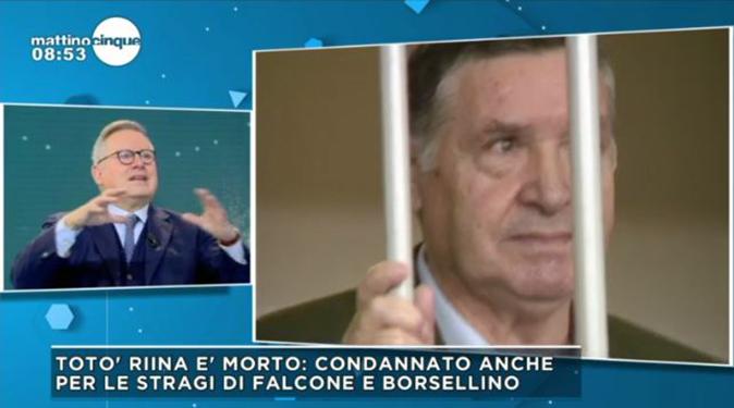 Totò Riina è morto, Mattino Cinque: da Rita dalla Chiesa a Paolo Liguori, 'Non è una morte consolatoria'