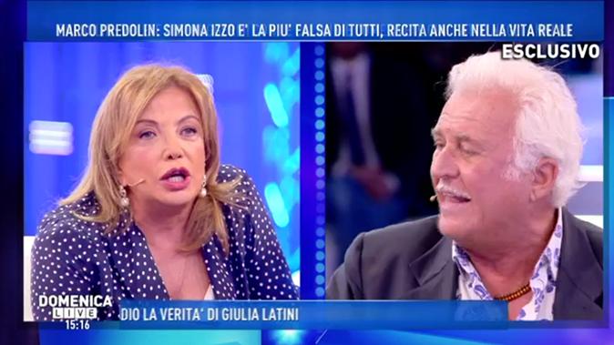 Marco Predolin VS Simona Izzo, Grande Fratello Vip: 'Non ti ho mai vista fare la doccia!'