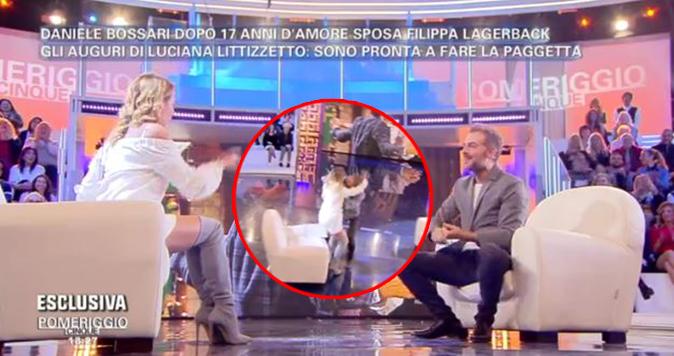Daniele Bossari bacia Barbara d'Urso