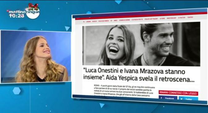 GF Vip 2 Ivana e Luca, ospite a Mattino Cinque la modella lascia la porta aperta: 'Vediamo…'
