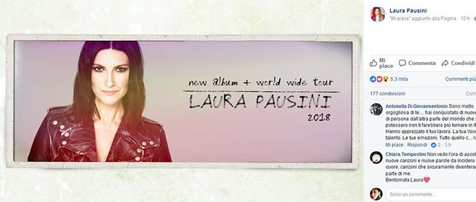 Laura Pausini, nuovo disco nel 2018: ecco le date ufficiali del tour mondiale che parte da Roma