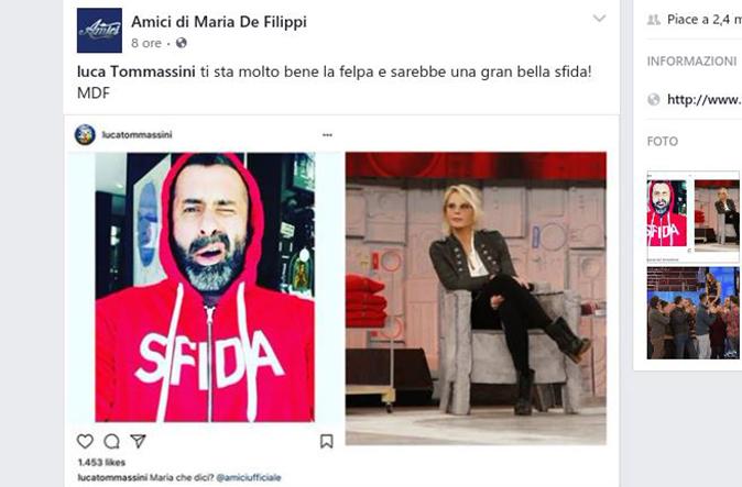 Amici 17, Maria De Filippi risponde a Luca Tommassini