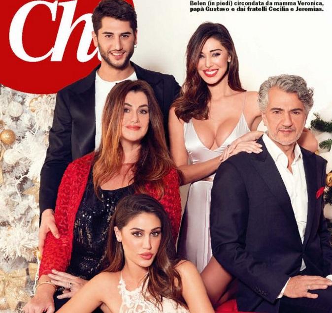 """Gossip news, Belen Rodriguez e la foto di famiglia per Natale: """"Basta gossip!"""", Cecilia e Jeremias vogliono diventare genitori"""