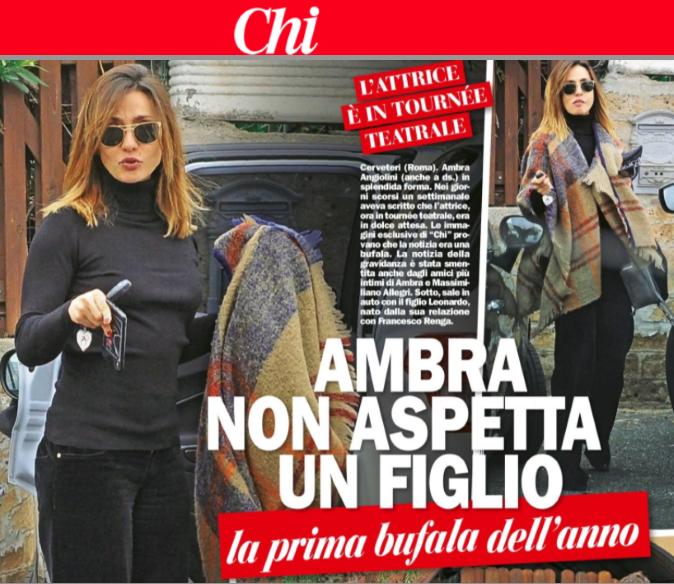 """Gossip news, Ambra Angiolini non aspetta un figlio da Massimiliano Allegri: """"la prima bufala dell'anno"""""""