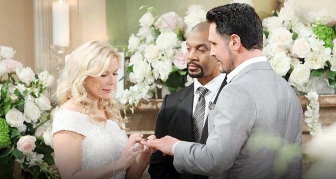 Beautiful, anticipazioni dall'8 al 13 gennaio: Brooke sposa Bill Spencer, Nicole non può restare incinta