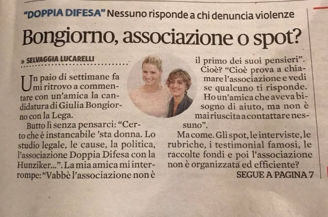 """Selvaggia Lucarelli: """"Doppia Difesa? Non risponde alle donne"""", Michelle Hunziker e Giulia Bongiorno la querelano"""