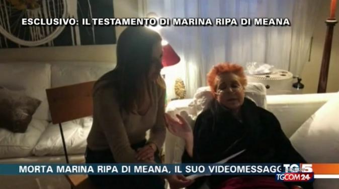 """Marina Ripa di Meana, videotestamento: """"Ho pensato al suicidio assistito, poi ho scoperto la sedazione profonda"""""""