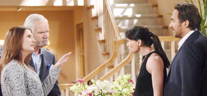 Beautiful, anticipazioni dal 26 febbraio al 3 marzo: Sheila racconta ad Eric che Quinn l'ha tradito con Ridge