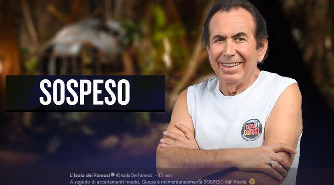 Isola dei Famosi 2018, Giucas Casella sospeso per problemi di salute: ecco cosa è successo