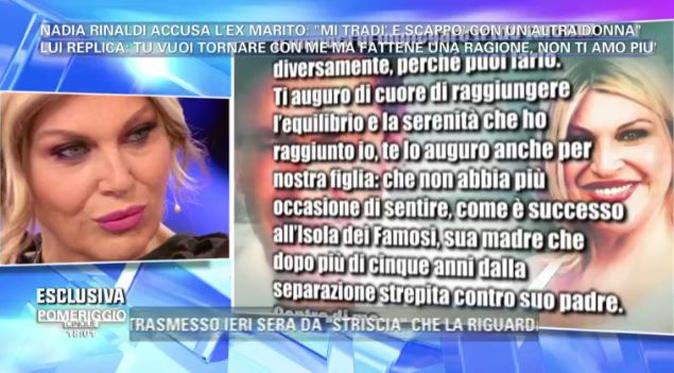 """Gossip TV, Nadia Rinaldi chiede scusa al suo ex e poi ribadisce: """"Se Striscia ha le prove le esca pure!"""""""