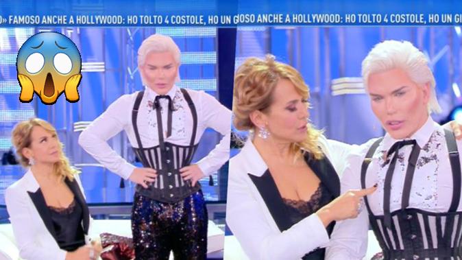 """Rodrigo Alves, Ken Umano shock a Domenica Live: """"Ho tolto 4 costole ma questo è l'ultimo intervento!"""""""