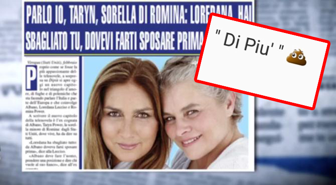 """Gossip Tv, Romina Power furiosa con DiPiù: """"Giornalacci, vogliono farmi litigare con mia sorella!"""""""