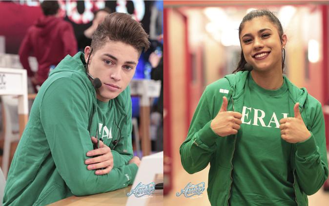 Amici 17, serale 2018: Einar e Lauren conquistano la maglia verde, polemiche social